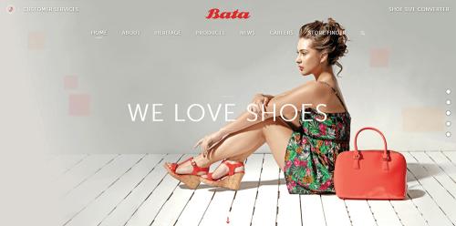 WordPress-weboldal-Bata-cipő
