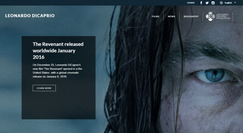 WordPress-weboldal-Leonardo-Dicaprio