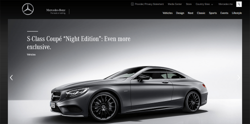 WordPress-weboldal-Mercedes