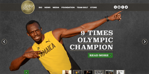 WordPress-weboldal-Usain-Bolt
