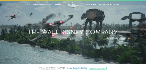 WordPress-weboldal-Walt-Disney